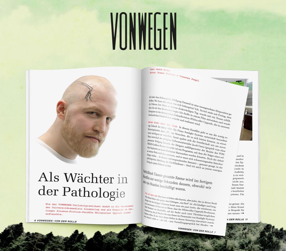"""VONWEGEN-Mitarbeiter André Grube berichtet vom WCU-Set """"Als Wächter in der Pathologie"""""""